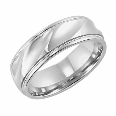 ArtCarved Largo 6mm 14K White Gold Ring