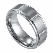 ArtCarved Logan 8mm Slotted Tungsten Carbide Wedding Band