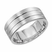 ArtCarved Love Light 7mm 14K White Gold Ring