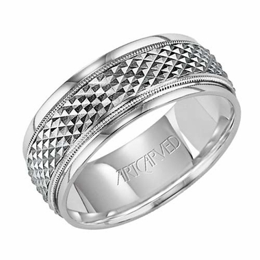 ArtCarved Manoir 7mm 14K White Gold Ring
