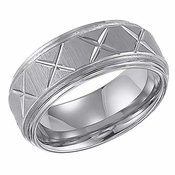 ArtCarved Matthews 9mm Tungsten Carbide Ring with Cuts