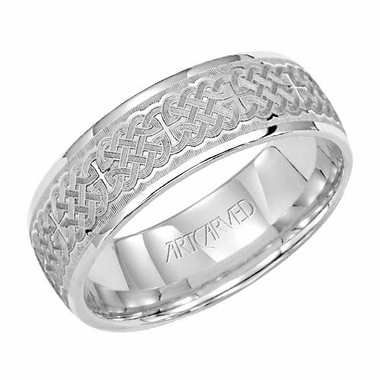 ArtCarved Mckinley 7mm 14K White Gold Ring