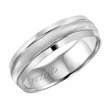 ArtCarved Merrick 6mm 14K White Gold Ring