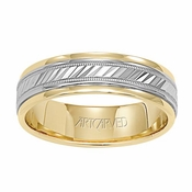 ArtCarved Monterey 6mm 14K True Two Tone Ring