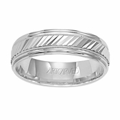 ArtCarved Monterey 6mm 14K White Gold Ring