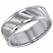 ArtCarved Olsen 8mm Tungsten Carbide Ring