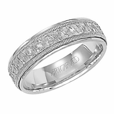 ArtCarved Olympus 6mm 14K White Gold Ring