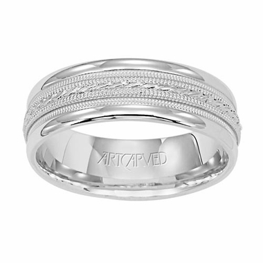 ArtCarved Opulence 7mm 14K White Gold Ring