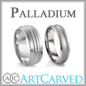 ArtCarved Palladium Wedding Bands