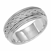 ArtCarved Paragon 8mm 14K White Gold Ring