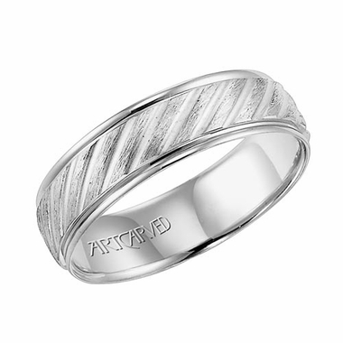 ArtCarved Parker 6mm 14K White Gold Ring