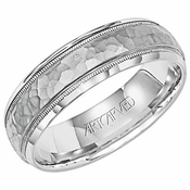 ArtCarved Parrish 6mm Hammered Palladium Ring