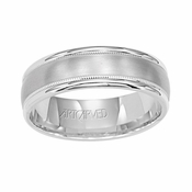 ArtCarved Pendleton 6.5mm 14K White Gold Ring