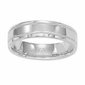 ArtCarved Perfection 5.5mm 14K White Gold Ring