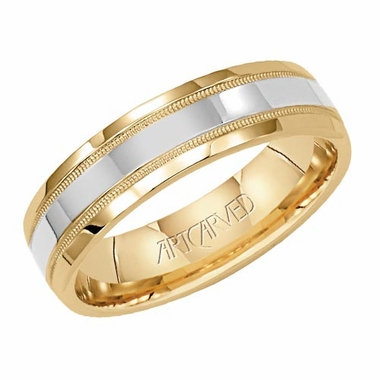 ArtCarved Pledge 5.5mm 14K Gold True Two Tone Ring