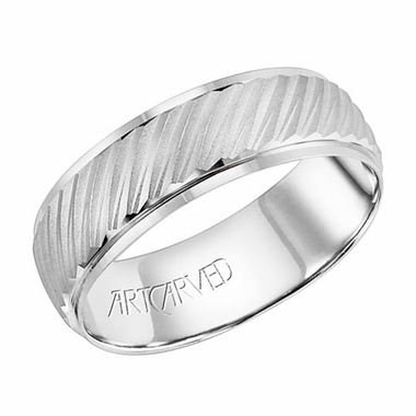 ArtCarved Prescott 7mm 14K White Gold Ring