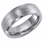 ArtCarved Ramsey 8mm Tungsten Carbide Diamond Ring