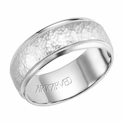ArtCarved Randall 8mm 14K White Gold Ring