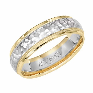 ArtCarved Reflections 6mm 14K Gold True Two Tone Ring