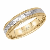 ArtCarved Roulette 5mm 14K Gold True Two Tone Ring