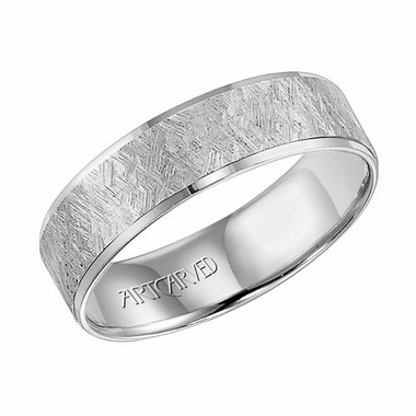 ArtCarved Sawyer 6mm 14K White Gold Ring