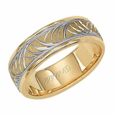 ArtCarved Sea of Dreams 7mm 14K Gold Two Tone Ring