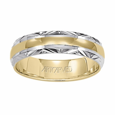 ArtCarved Serene 5.5mm 14K Two Tone Ring