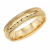 ArtCarved Serenity 5mm 14K Yellow Gold Ring