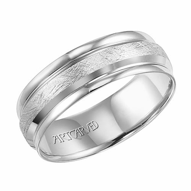 ArtCarved Sheldon 7mm 14K White Gold Ring
