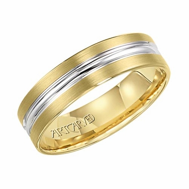 ArtCarved Sheridan 6mm 14K Gold True Two Tone Ring