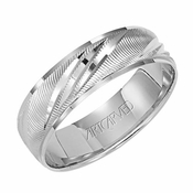 ArtCarved Shower of Gold 6mm 14K White Gold Ring