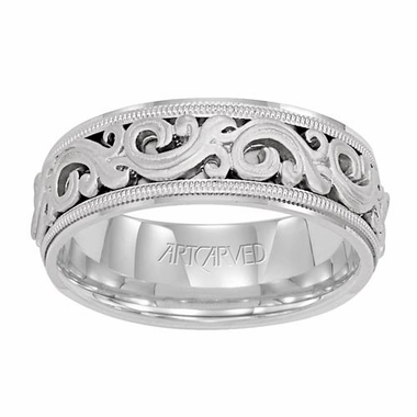 ArtCarved Sovereign 7.5mm 14K White Gold Ring