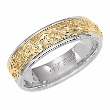 ArtCarved Success 6mm 14K Gold Reverse True Ring