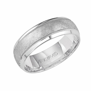 ArtCarved Sussex 7mm Palladium Ring with Milgrain