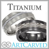 ArtCarved Titanium Bands
