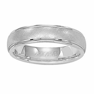 ArtCarved Travis 5mm 14K White Gold Ring