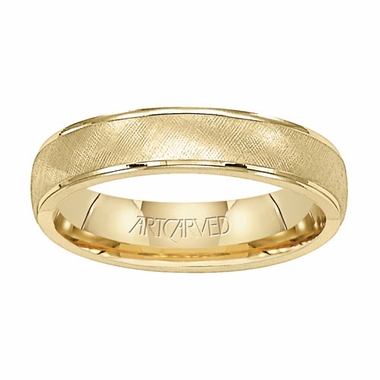 ArtCarved Travis 5mm 14K Yellow Gold Ring