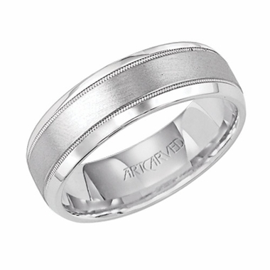 ArtCarved Turin 7mm 14K White Gold Ring