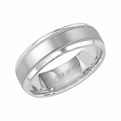ArtCarved Turin 7mm Palladium Ring with Milgrain