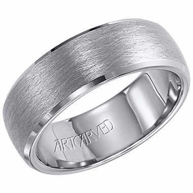 ArtCarved Vaughan 7.5mm Tungsten Carbide Ring