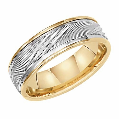 ArtCarved Venice 6.5mm 14K Gold True Two Tone Ring