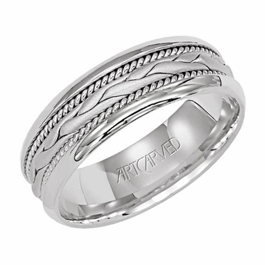 ArtCarved Vista 7mm 14K White Gold Ring