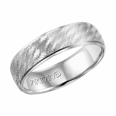 ArtCarved Wagner 6mm 14K White Gold Ring