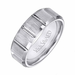 ArtCarved Warren 8mm Tungsten Carbide Ring with Vertical Cuts