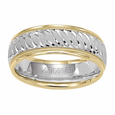 ArtCarved Whispers of Love 7mm 14K True Two Tone Ring