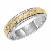 ArtCarved Wistful 4.5mm 14K Gold Reverse True Ring