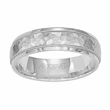 ArtCarved Woodbridge 6mm 14K White Gold Ring