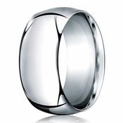 Benchmark 10mm 14K White Gold Heavy Comfort Fit Wedding Band