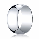 Benchmark 10mm 14K White Gold Traditional Wedding Band