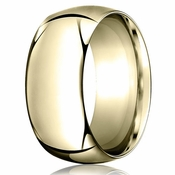 Benchmark 10mm 14K Yellow Gold Heavy Comfort Fit Wedding Band